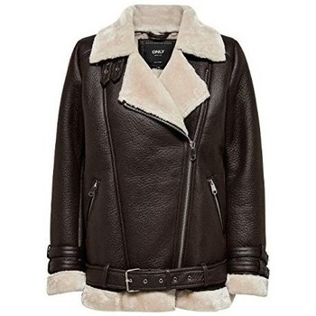 Clothing Women Jackets Only ONLVIA Bonded Brown