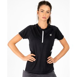 Clothing Women T-shirts & Polo shirts Dare 2b OUTDARE II Wicking Jersey White Black Black Black