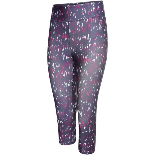 Clothing Women Trousers Dare 2b INFLUENTIAL Quick-Dry 3/4 Tights Charcoal Grey Marl Pink Pink