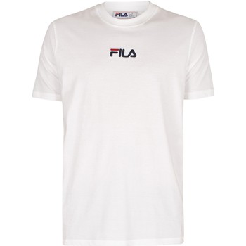 Clothing Men Short-sleeved t-shirts Fila Malik Embroidered Logo T-Shirt white