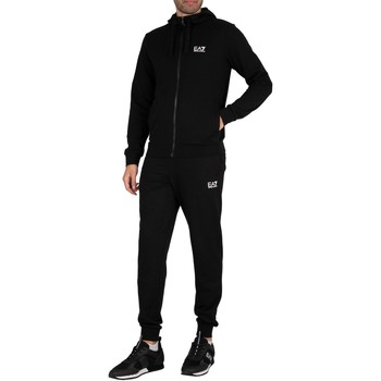 Clothing Men Tracksuits Emporio Armani EA7 Zip Hoodie Jersey Tracksuit black