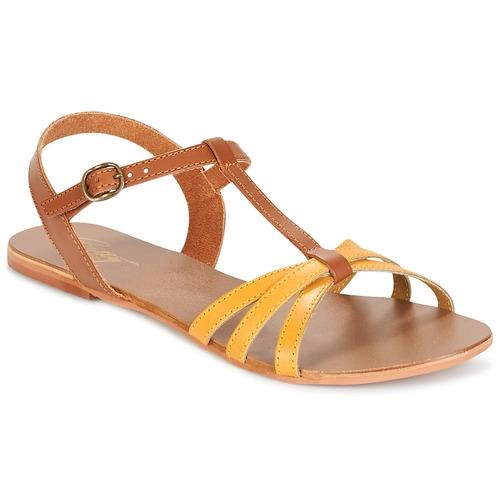 Shoes Women Sandals Betty London IXADOL Yellow / Camel