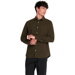 Clothing Men Long-sleeved shirts Lyle & Scott  Khaki