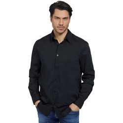 Clothing Men Long-sleeved shirts Guess  Black