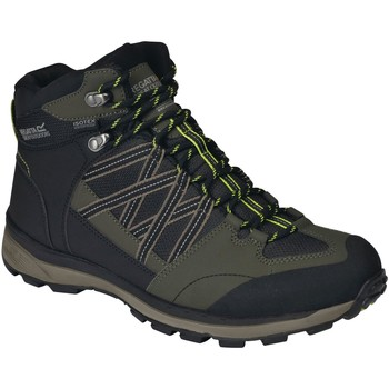Shoes Men Boots Regatta SAMARIS II Mid Boots Briar Grey Lime Green Green Green
