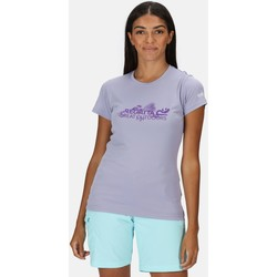 Clothing Women T-shirts & Polo shirts Regatta FINGAL V Tshirt Turquoise Purple Purple