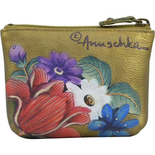 Bags Women Pouches Anuschka 1031 Dreamy Floral -Hand Painted Leather Multicolour