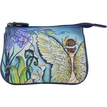 Bags Women Pouches Anuschka 1107 Enchanted Garden -Hand Painted Leather Multicolour