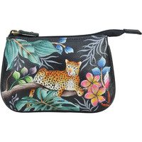 Bags Women Pouches Anuschka 1107 Jungle Queen -Hand Painted Leather Multicolour