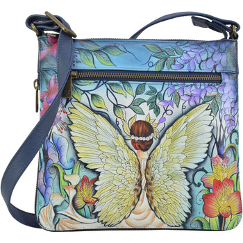 Bags Women Shoulder bags Anuschka 550 Enchanted Garden -Hand Painted Leather Multicolour