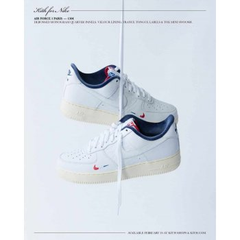 Shoes Low top trainers Nike Air Force 1 Low x Kith Paris White/Red-Navy