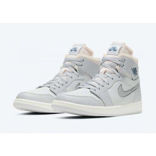 Shoes Hi top trainers Nike Air Jordan 1 Zoom Confort London Photon Dust/Light Smoke Grey-Grey Fog