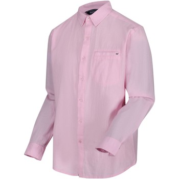 Clothing Men Long-sleeved shirts Regatta BARD Shirt Pale Pink Pink Pink