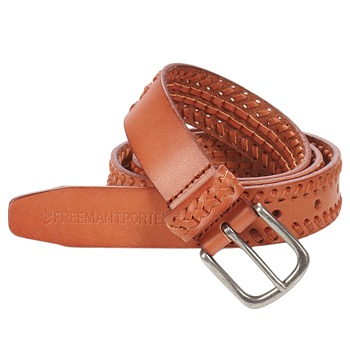 Clothes accessories Women Belts Freeman T.Porter ASADENA LEATHER CARAMEL