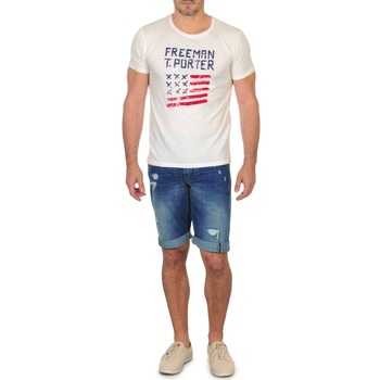 Clothing Men Shorts / Bermudas Freeman T.Porter DADECI SHORT DENIM Blue
