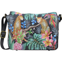 Bags Women Shoulder bags Anuschka 683 Jungle Queen- Hand Painted Leather Multicolour