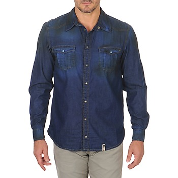 Clothing Men long-sleeved shirts Freeman T.Porter CORWEND DENIM Blue