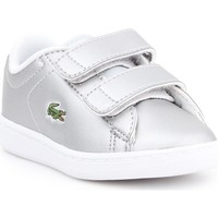 Shoes Children Derby Shoes & Brogues Lacoste Carnaby Evo Silver