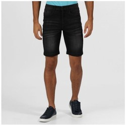 Clothing Men Shorts / Bermudas Regatta DACKEN Denim Shorts Indigo Denim Black Black