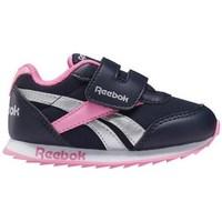 Shoes Children Derby Shoes & Brogues Reebok Sport Royal CL Jogger Black, Silver, Pink