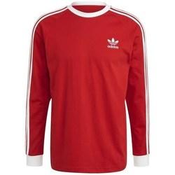 Clothing Men Sweaters adidas Originals 3STRIPES Red