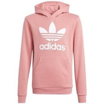 Clothing Children Sweaters adidas Originals Trefoil Hoodie Pink