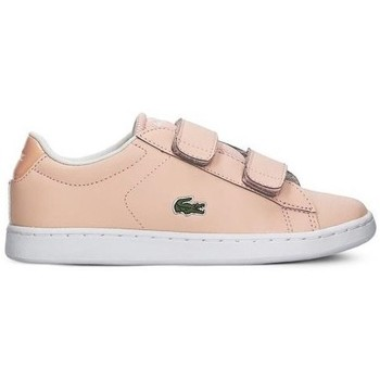 Shoes Children Low top trainers Lacoste Carnaby Evo Strap Pink