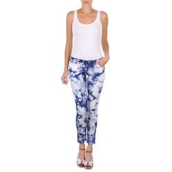 Clothing Women Cropped trousers Cimarron CLARA TIE DYE Blue