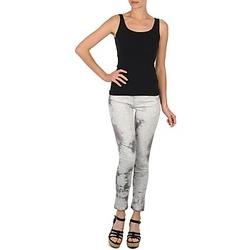 Clothing Women Cropped trousers Cimarron CLARA TIE DYE PYTHON Grey