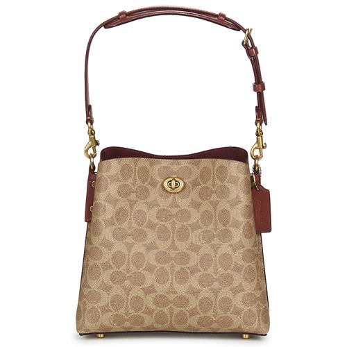 Bags Women Small shoulder bags Coach WILLOW BUCKET BAG 21 Cognac