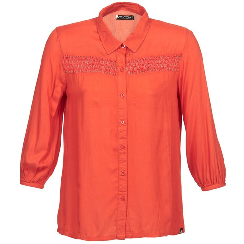 Clothing Women long-sleeved shirts Volcom KNOTTY Red