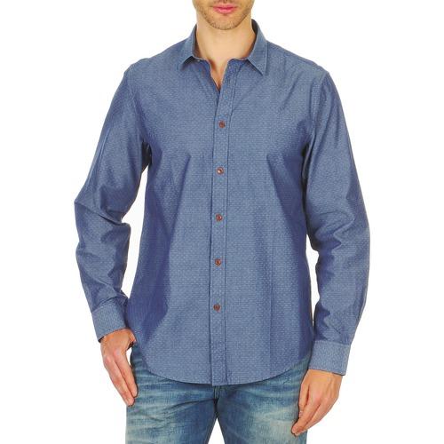 Clothing Men long-sleeved shirts Ben Sherman BEMA00490 Blue