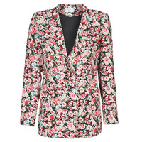 Clothing Women Jackets / Blazers Betty London OBIMBA Black / Pink