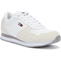 Shoes Women Low top trainers Tommy Hilfiger Tommy Jeans Suede Mesh Panel Womens White Trainers White