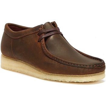 Shoes Men Loafers Clarks Wallabee Leather Mens Brown Shoes Brown
