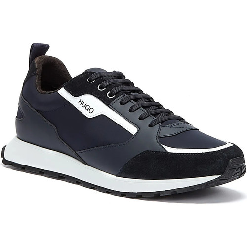 Shoes Men Low top trainers BOSS Icelin Runn Mens Navy / White Trainers Navy