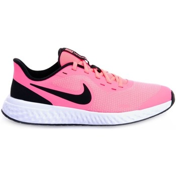 Shoes Children Low top trainers Nike Revolution 5 GS White, Black, Pink