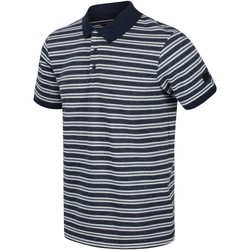 Clothing Men Short-sleeved polo shirts Regatta MALAK TShirt Navy Stripe Blue Blue