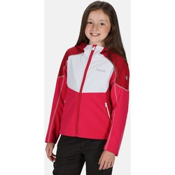 Clothing Girl Parkas Regatta ACIDITY IV Softshell Jacket Olympic Teal Fiery Red Pink Pink