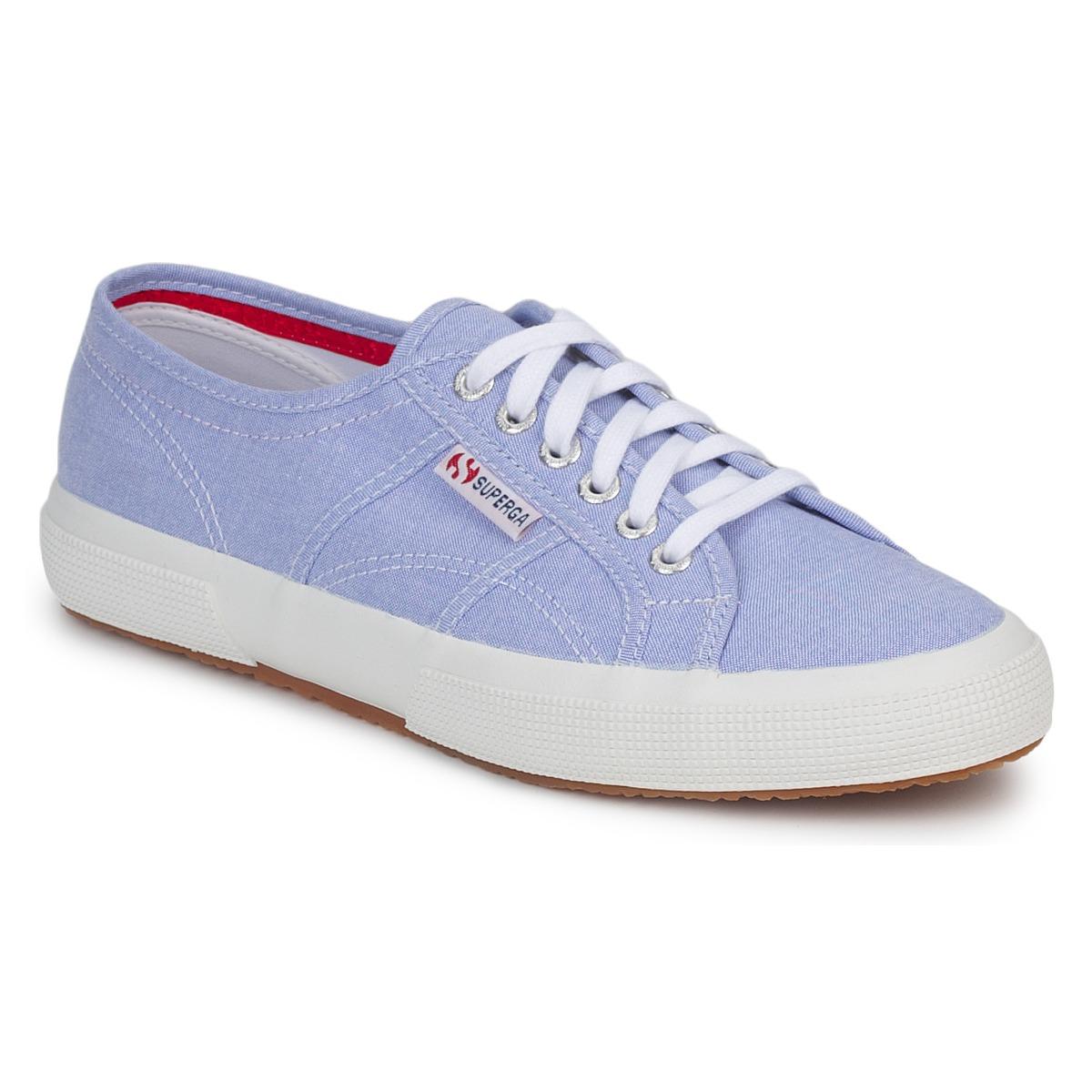 Superga 2750 COTUSHIRT Blue / Cream / Lt
