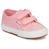Shoes Girl Low top trainers Superga 2750 STRAP Pink
