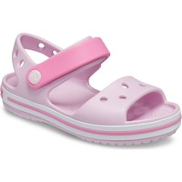 Shoes Girl Sandals Crocs 12856-6GD-C6 Crocband Ballerina Pink