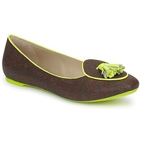 Shoes Women Loafers Etro BALLERINE 3738 Brown / Green