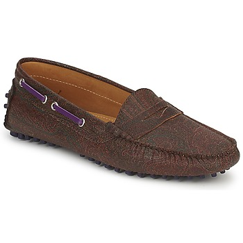 Shoes Women Loafers Etro MOCASSIN 3706 Brown / Purple