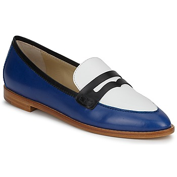 Shoes Women Loafers Etro MOCASSIN 3767 Black / White / Blue