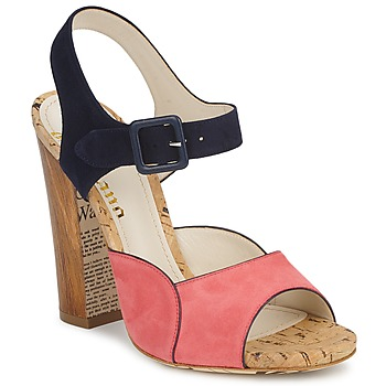 Shoes Women Sandals John Galliano AN3571 MARINE / Pink