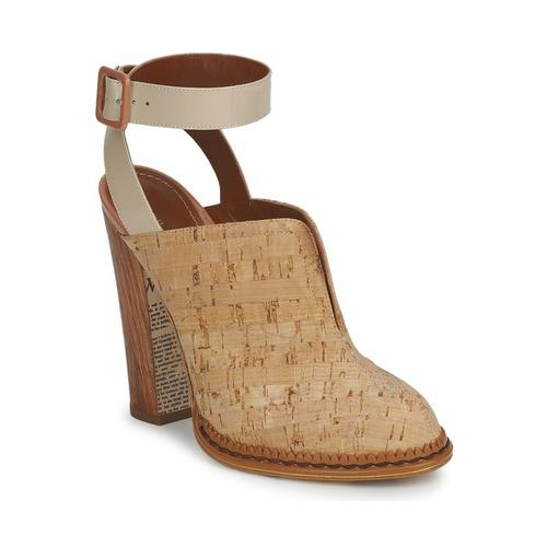 Shoes Women Clogs John Galliano AN9211 Beige