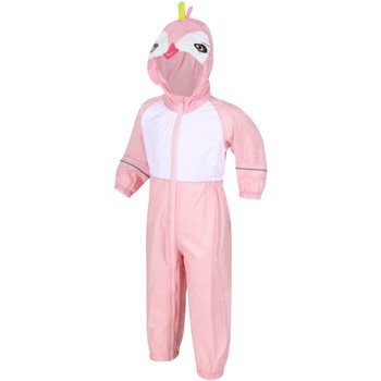 Clothing Children Jumpsuits / Dungarees Regatta CHARCO Waterproof PuddleSuit Pretty Pink Pink Pink