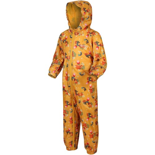 Clothing Children Jumpsuits / Dungarees Regatta Peppa Pig POBBLE PuddleSuit Yellow