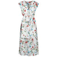 Clothing Women Long Dresses Moony Mood OLICA White / Multicolour